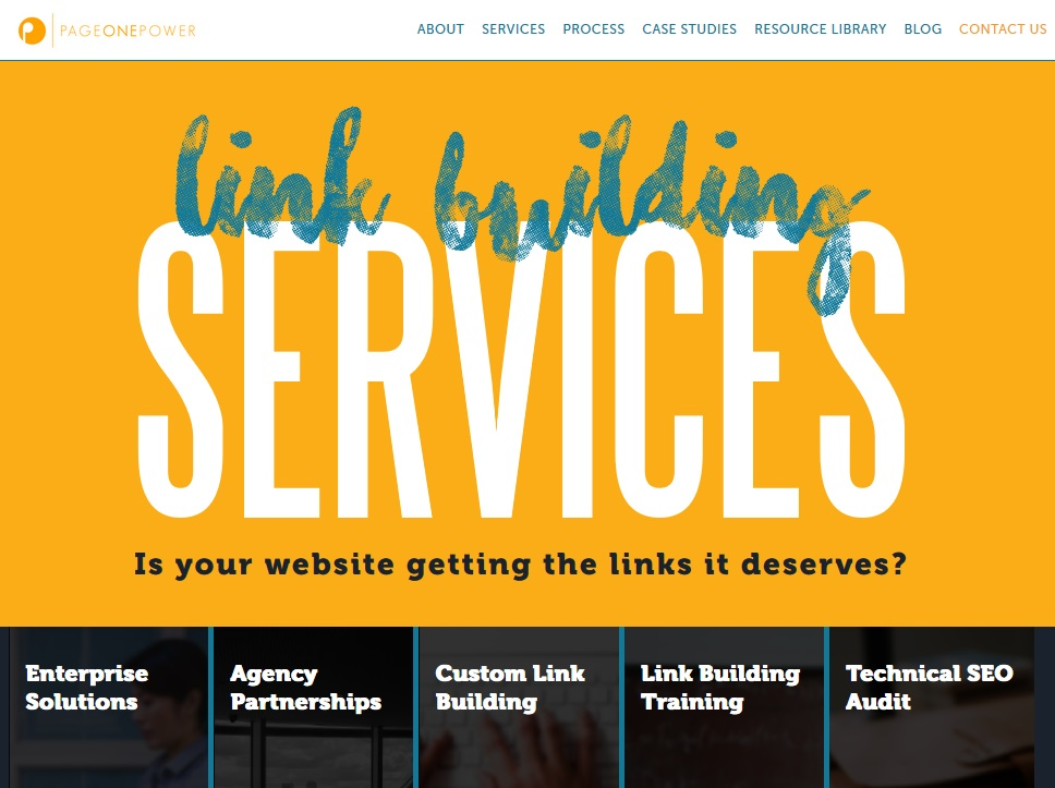 page one power link building packages