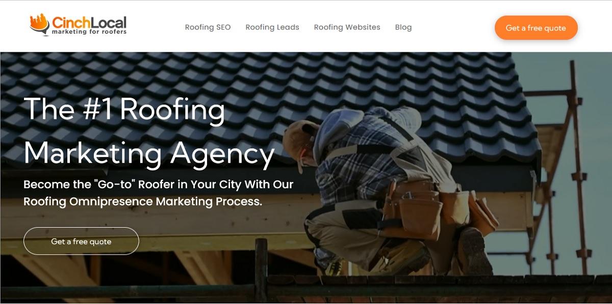 cinch local roofer marketing