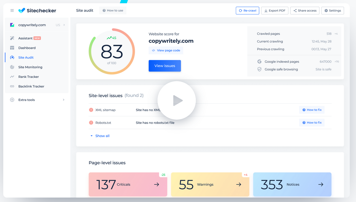 sitechecker seo tool review