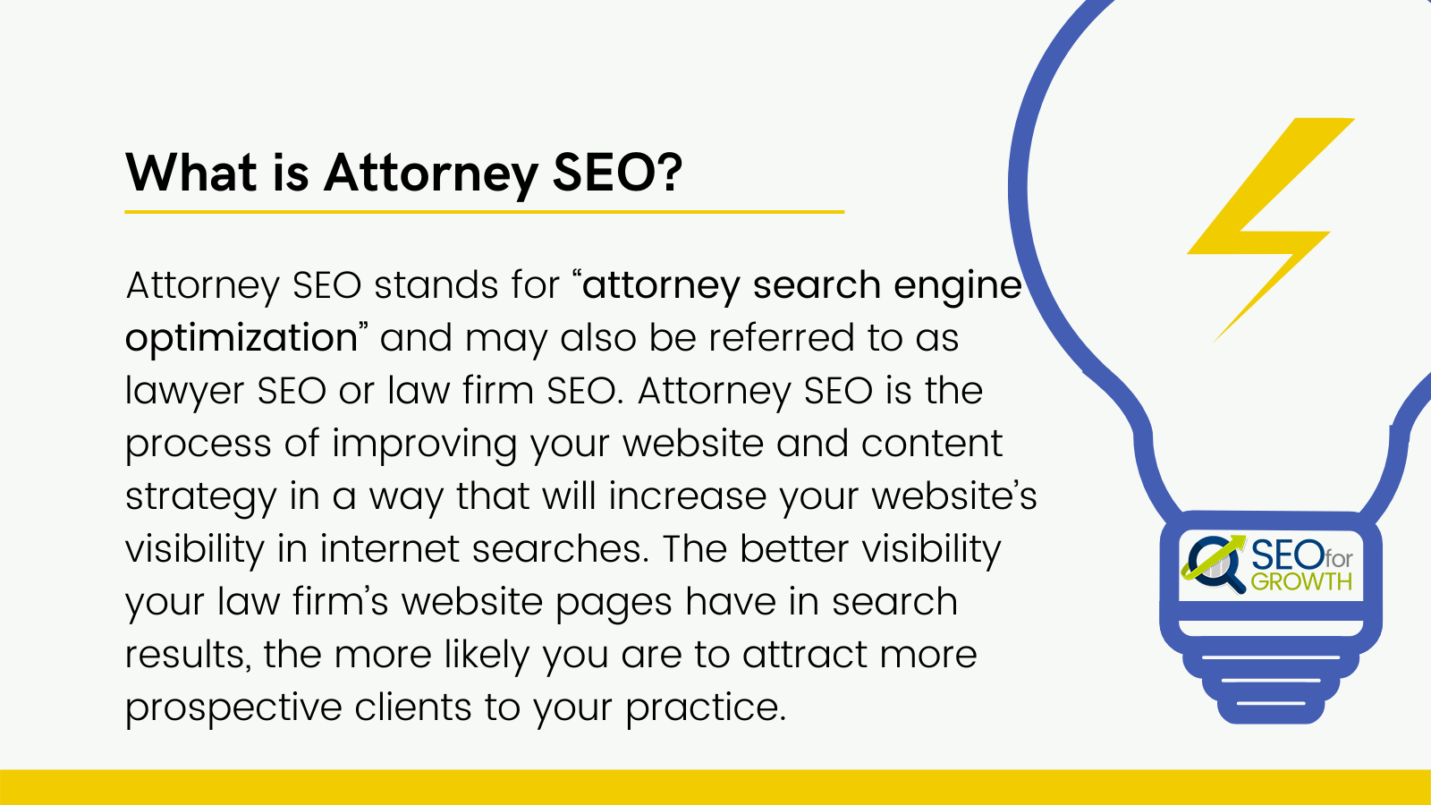 what is attorney seo